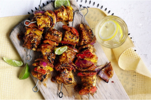 Spicy Indian Chicken Kebabs