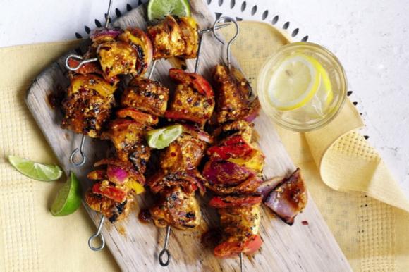 Spicy Indian Chicken Kebabs